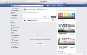 Geschafft! Das Facebook-Konto ist eröffnet.