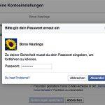 Passwort eingeben, um Änderungen zu bestätigen.