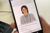 Ein Smartphone mit einem Avatar der App Success am Screen. (c) AIT – Austrian Institute of Technology